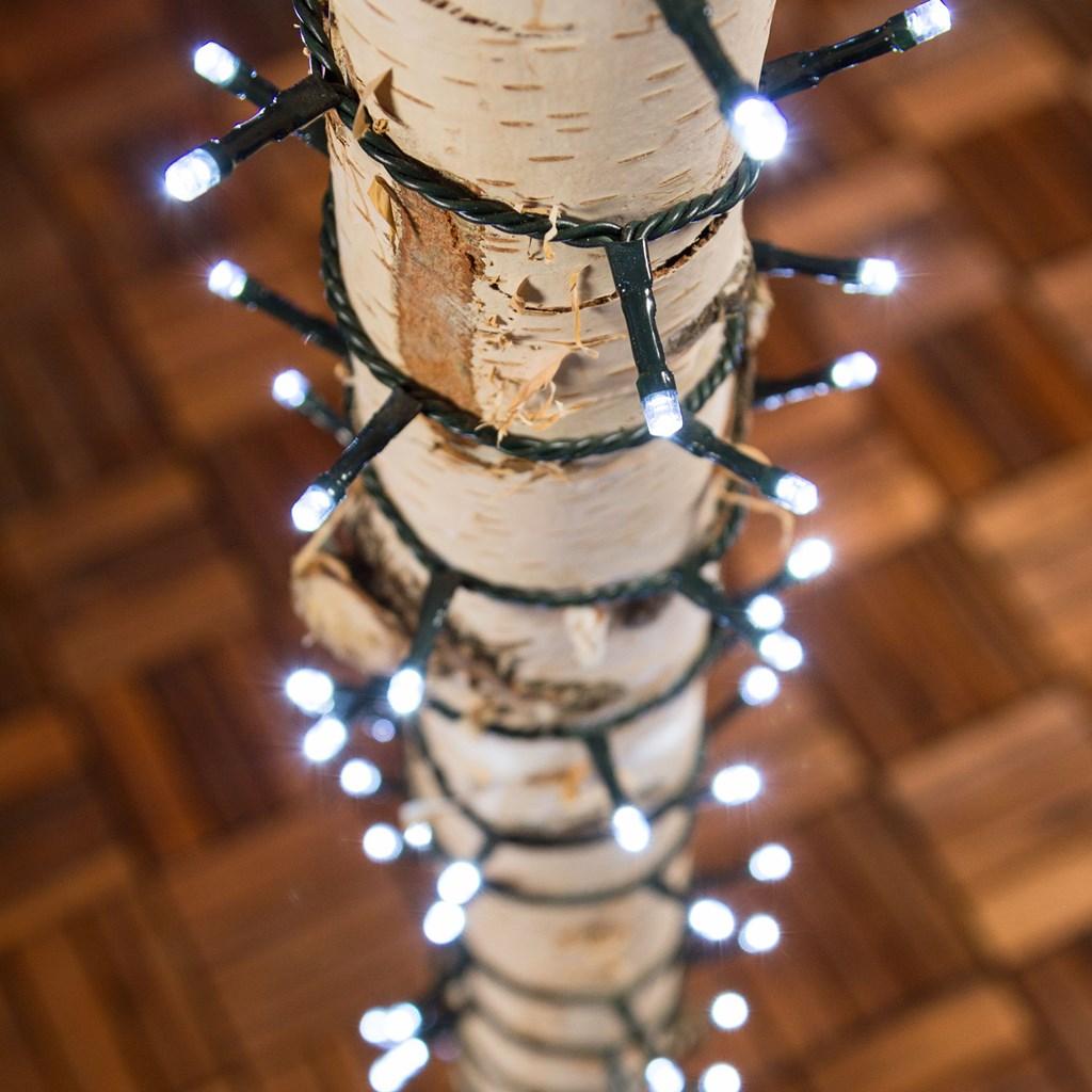 lichterkette 48 5 m 1200 leds kaltwei gr nes kabel lichterketten. Black Bedroom Furniture Sets. Home Design Ideas