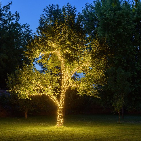 Lichterkette 10 m, 100 LEDs warmweiß