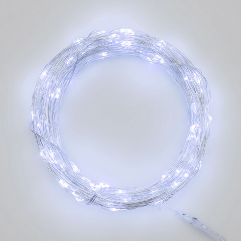 Guirlande 11,9 m, 120 micro LED blanc froid