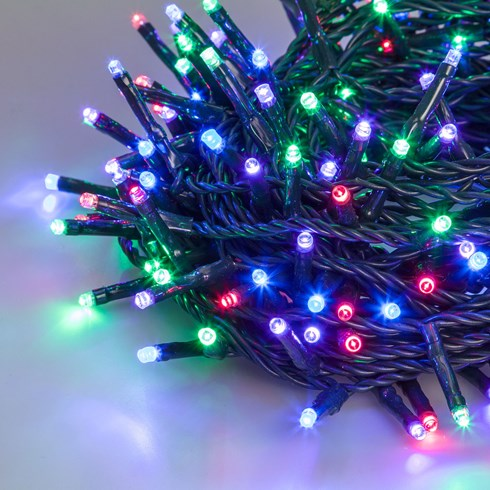 Lichterkette 8,5 m, 120 Mini LEDs multicolor plus