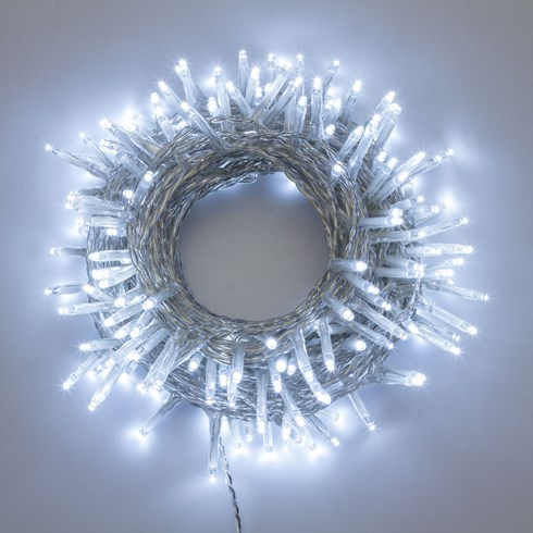 Guirlande 13 m, 180 Mini LED blanc froid