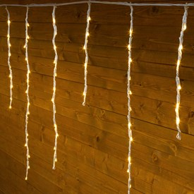 Stalactite Snow light 3 x 0,8 m, 192 led blanc chaud, câble blanc