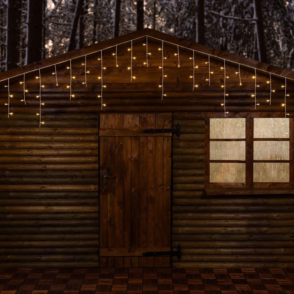 Weihnachtsbeleuchtung Led Ohne Kabel.Eiszapfen Lichterkette 30 X H 0 6 M 720 Leds Warmweiß
