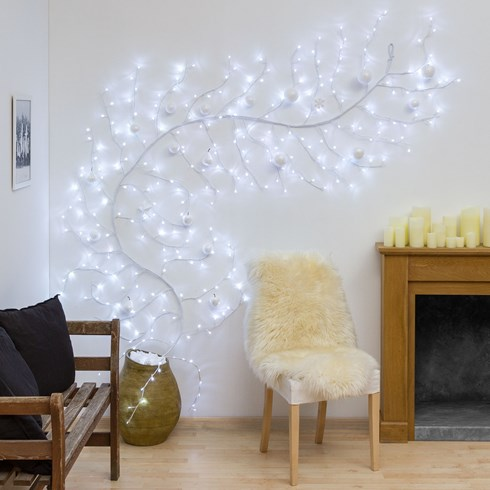 Branche blanche h 3 m, 288 led blanc froid