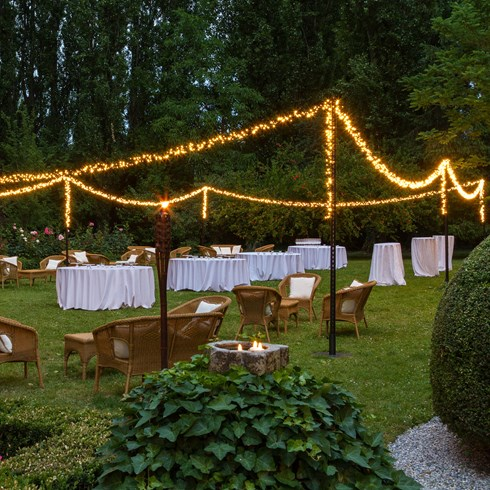Festoon de 15 m, 1500 miniled blanc chaud