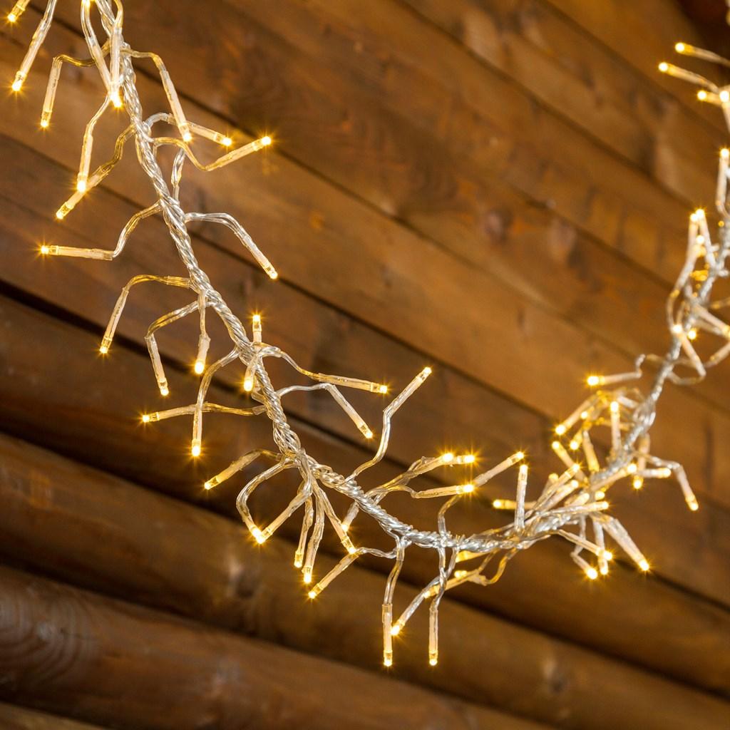 Guirnalda fest n de luces 15 m 1500 miniled blanco c lido for Guirnaldas de luces para exterior
