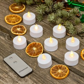 Set 8 Velas de té Led con mando