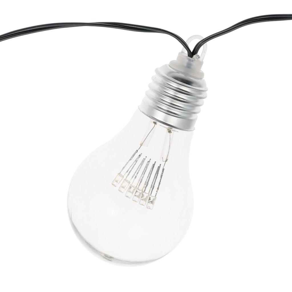guirlande guinguette 5 m 10 ampoules miniled blanc chaud. Black Bedroom Furniture Sets. Home Design Ideas