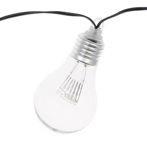 guirlande guinguette 5 m 10 ampoules miniled blanc chaud c ble vert guirlandes d coratives. Black Bedroom Furniture Sets. Home Design Ideas