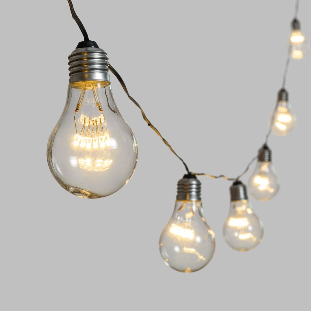 guirlande guinguette 20 m 40 ampoules miniled blanc chaud. Black Bedroom Furniture Sets. Home Design Ideas