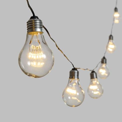 guirlande guinguette 20 m 40 ampoules miniled blanc chaud 55 x h 95 mm c ble vert. Black Bedroom Furniture Sets. Home Design Ideas