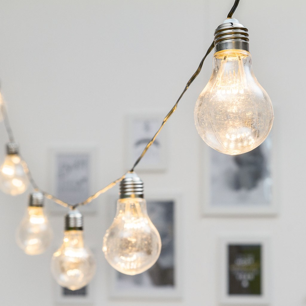 80ed07386d9dec Guirlande Guinguette 20 m, 40 ampoules miniled blanc chaud, Ø 55 x h ...