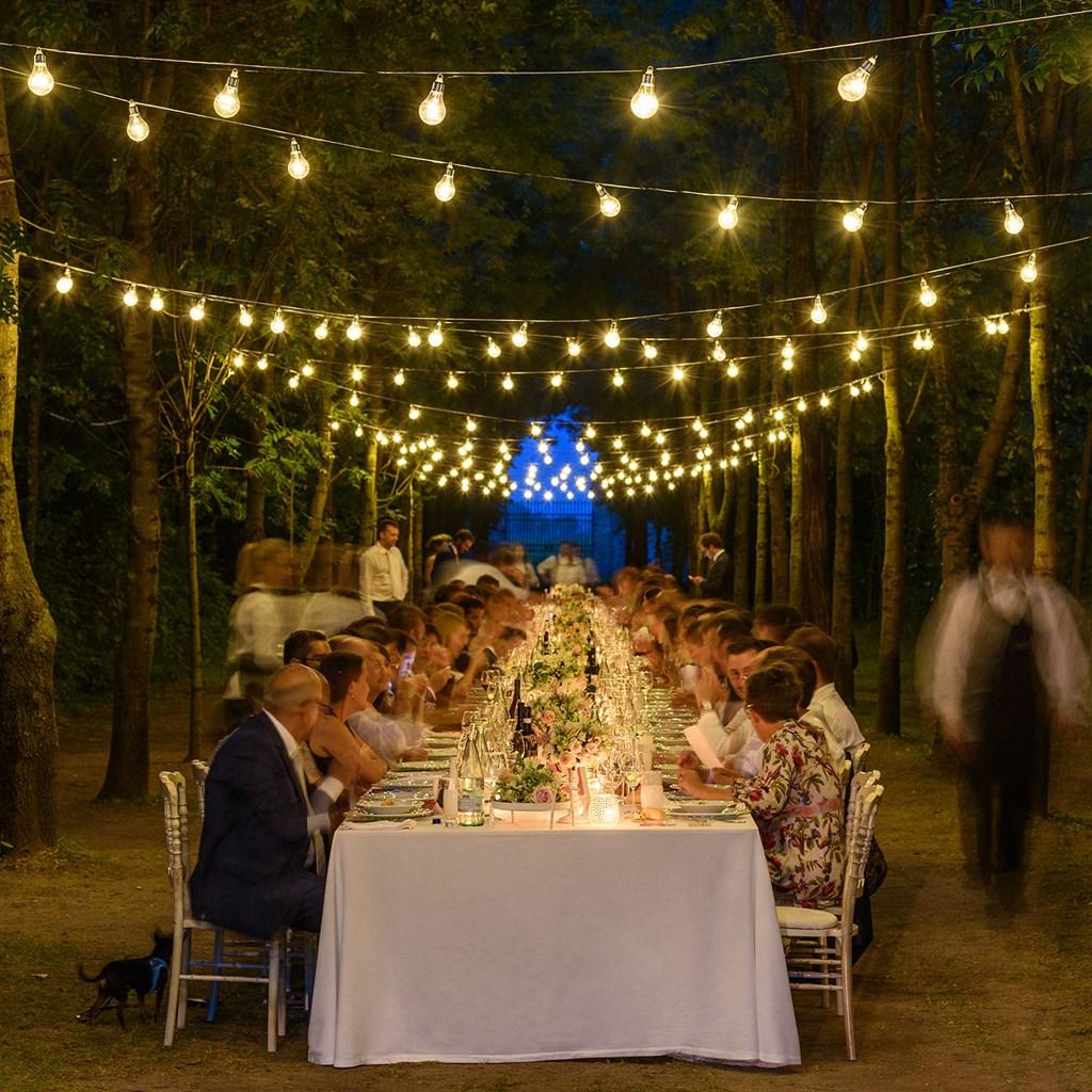 Guirlande Guinguette 5 M 10 Ampoules Miniled Blanc Chaud C Ble