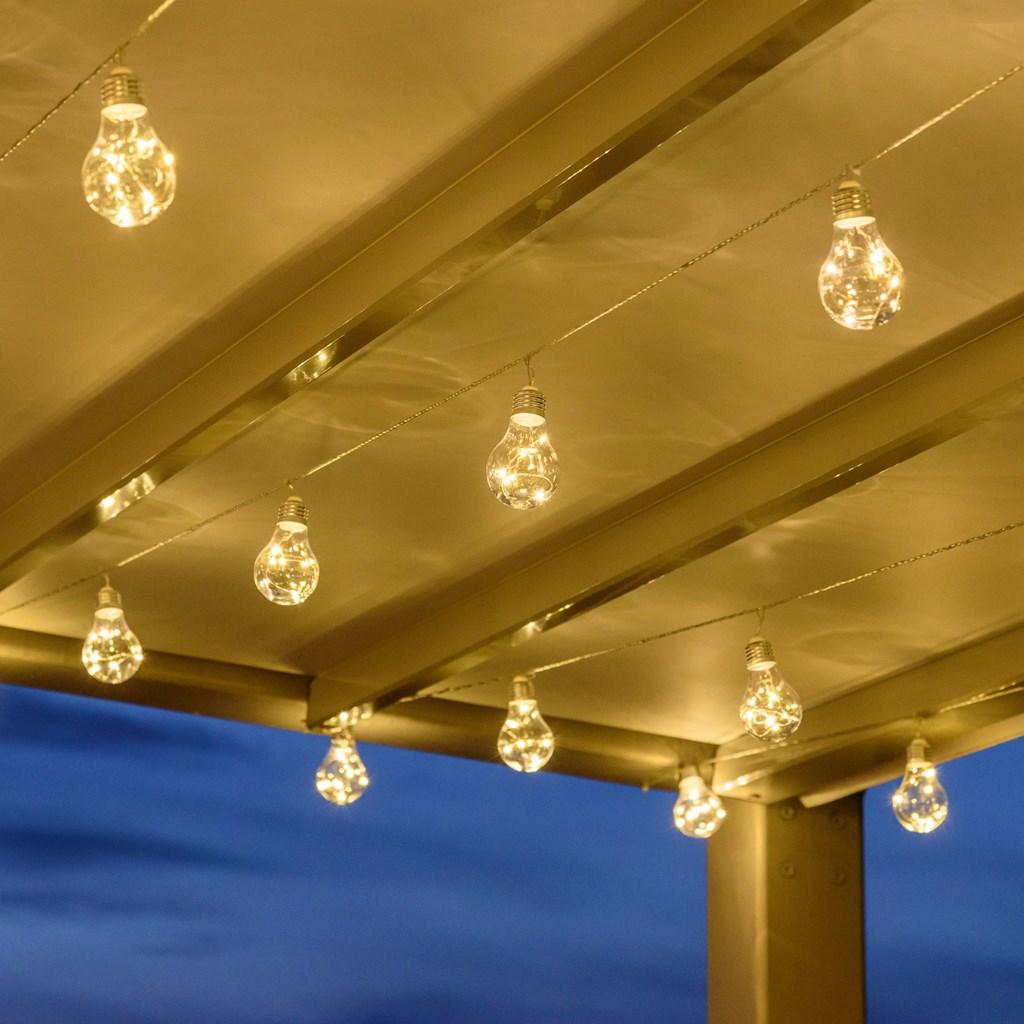Guirnalda luminosa 10 m prolongable 20 adornos bombillas - Catena di luci per esterno ...