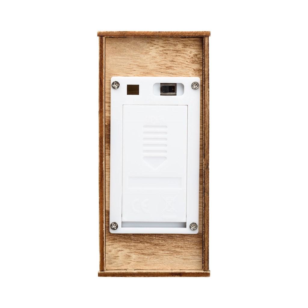 Renna traforata in legno h 25 cm 6 led bianco caldo batteria motivi per la casa - Renna natalizia luminosa per giardino ...