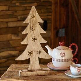 6a685583cb3 Árbol de Navidad luminoso de madera a pilas h. 37 cm