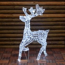 Renna luminosa natalizia per esterno luminal park - Renna natalizia luminosa per giardino ...