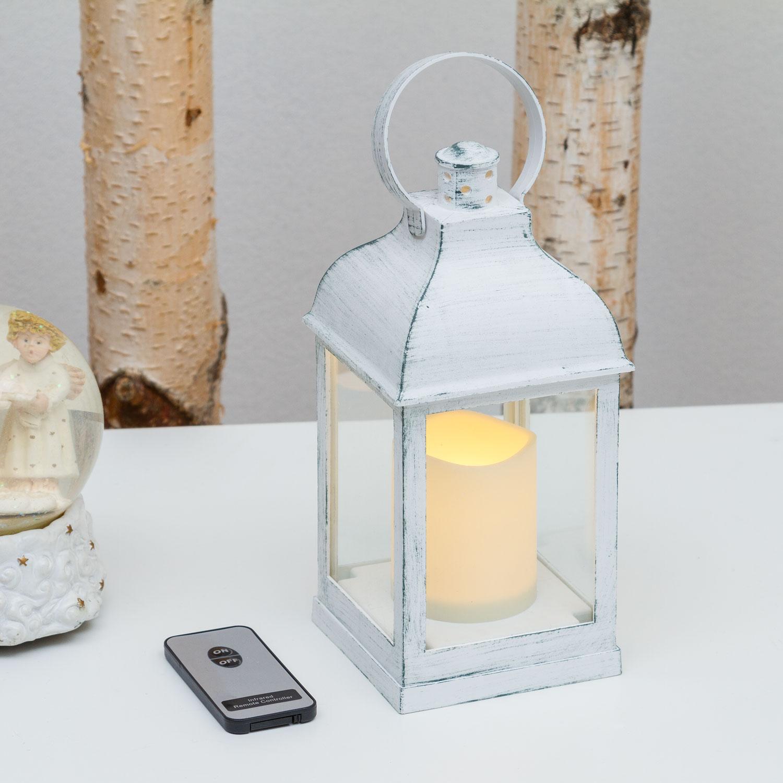 Chaud Lanterne 24 Cm Vieux BlancLed Blanc n0X8ZNOPkw