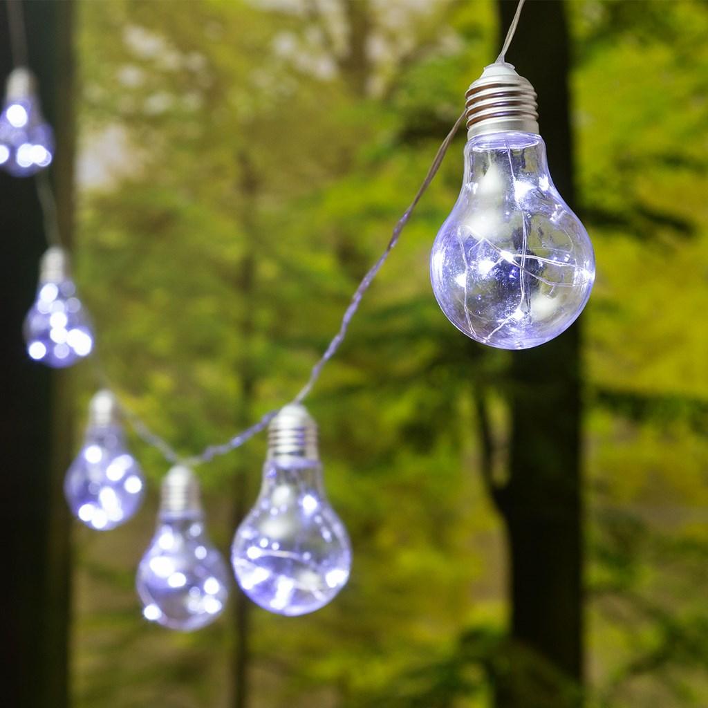 party dekolichterkette 5 m 10 microled lampen 55 x h 95 mm kaltwei transparentes kabel. Black Bedroom Furniture Sets. Home Design Ideas
