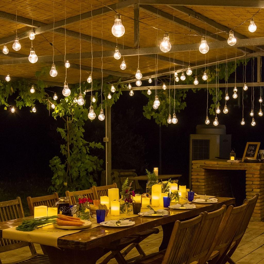 Guirnalda luminosa 2 4 m prolongable 8 adornos bombillas - Guirnaldas de luces ...