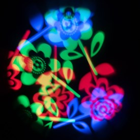Projecteur Fleurs, Led multicolore, rotation automatique