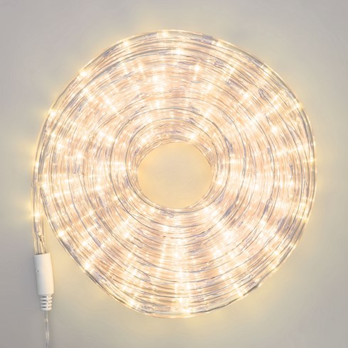 Tubo luminoso 15 m, led bianco caldo