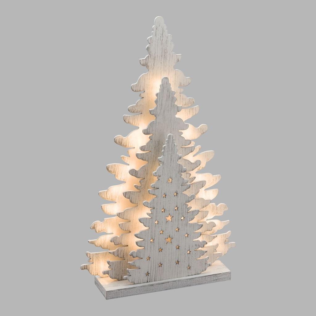 4c1e4ebdd88 Árbol de madera con luces Led h. 35 cm. 1