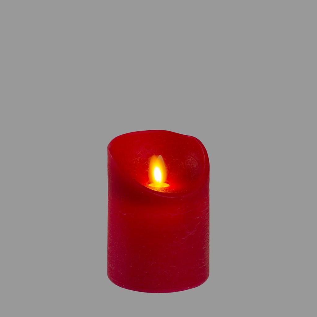 rote led wachskerze h 10 cm warmwei es licht mit timer led kerzen und teelichter. Black Bedroom Furniture Sets. Home Design Ideas