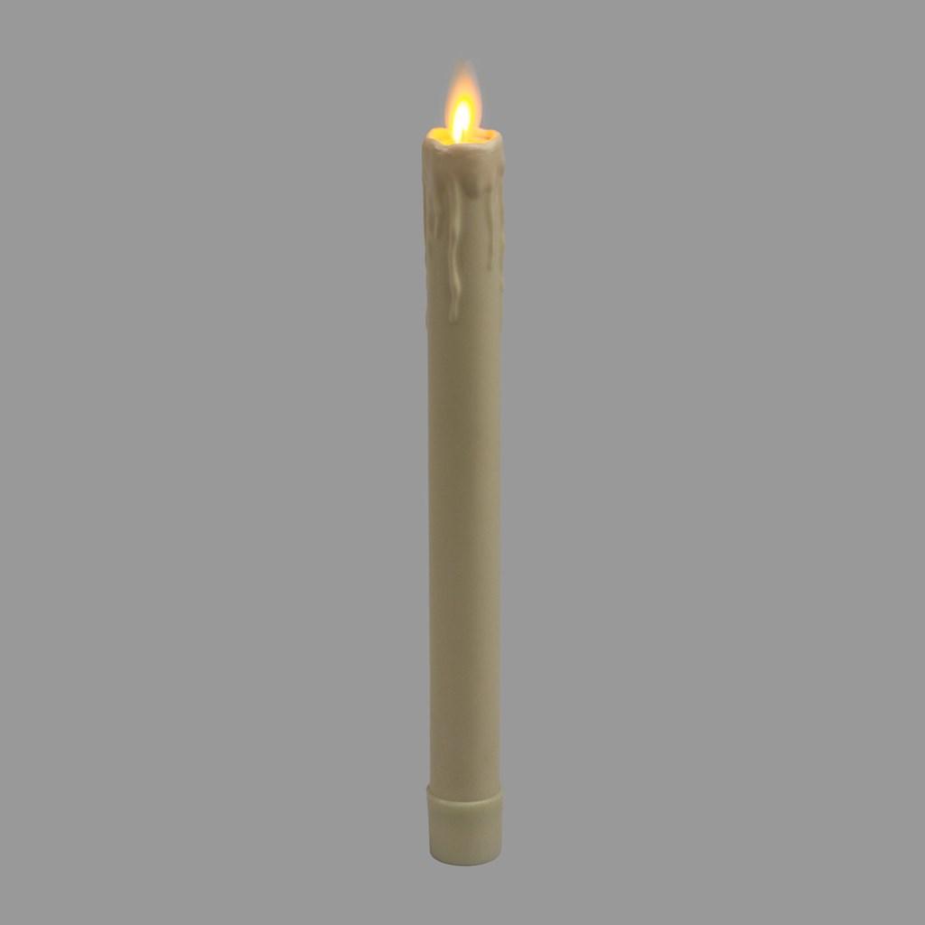 bougie en cire couleur ivoire effet fondu h 23 cm led blanc chaud timer bougies et chauffe. Black Bedroom Furniture Sets. Home Design Ideas