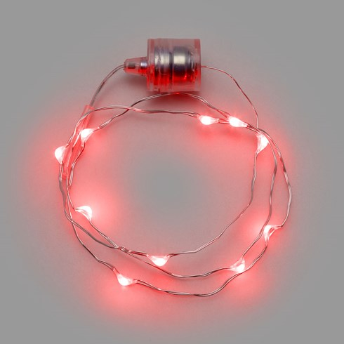 Collier Brilly 60 avec 10 gouttes, led rouge