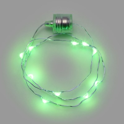 Collier Brilly 60 avec gouttes, led vert