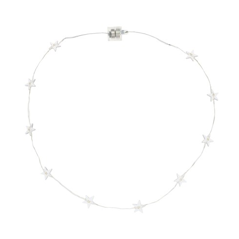 Collana Brilly 10 stelle led bianco caldo