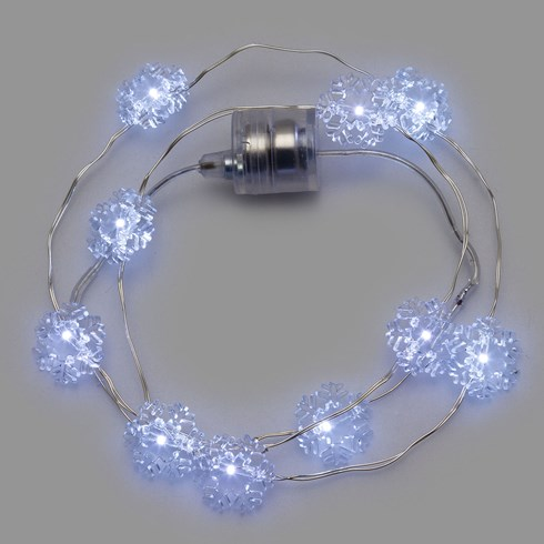 Collier Brilly 10 cristaux led blanc froid