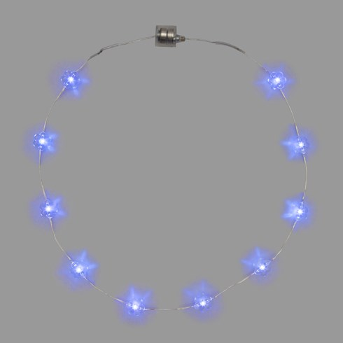 Collana Brilly 10 fiori led blu