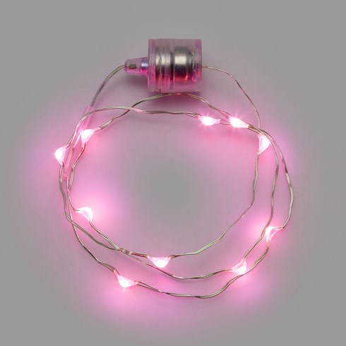 Collier Brilly avec 10 gouttes lumineuses, led rose
