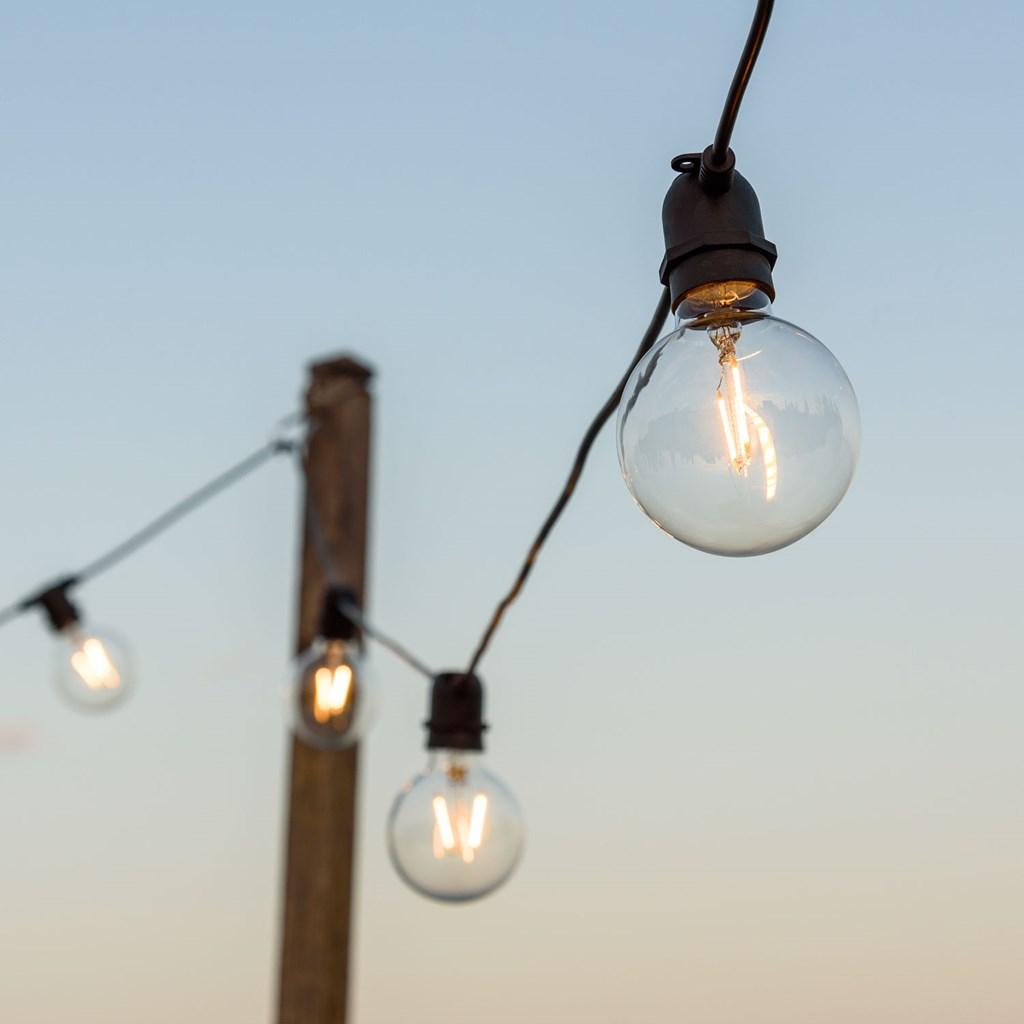 516b50bd51af63 Guirlande Guinguette 8 m, 10 ampoules en verre Ø 8 cm, E27, led ...