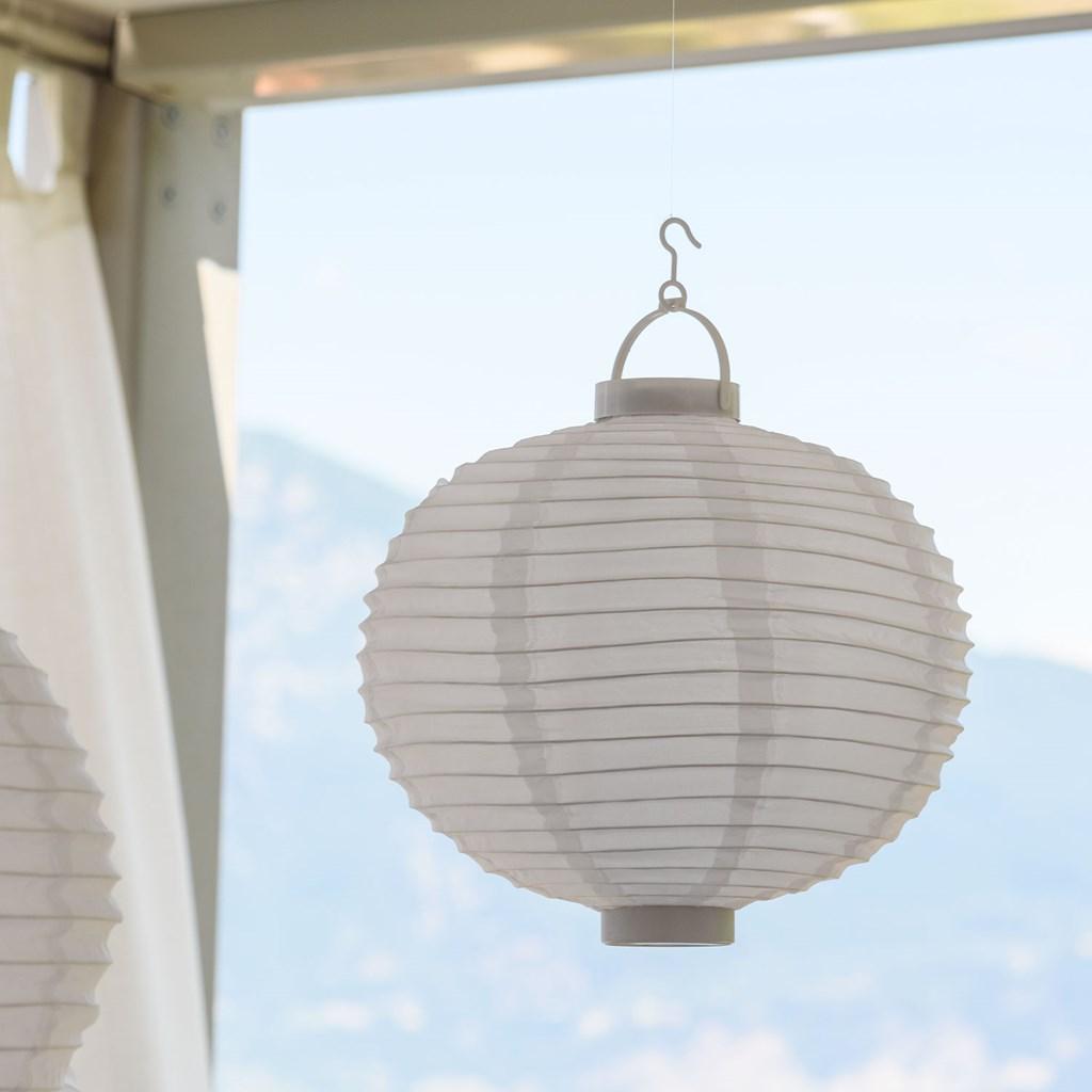 LED-Lampion Ø 30 cm, warmweißes Licht, batteriebetrieben - LED-Laternen