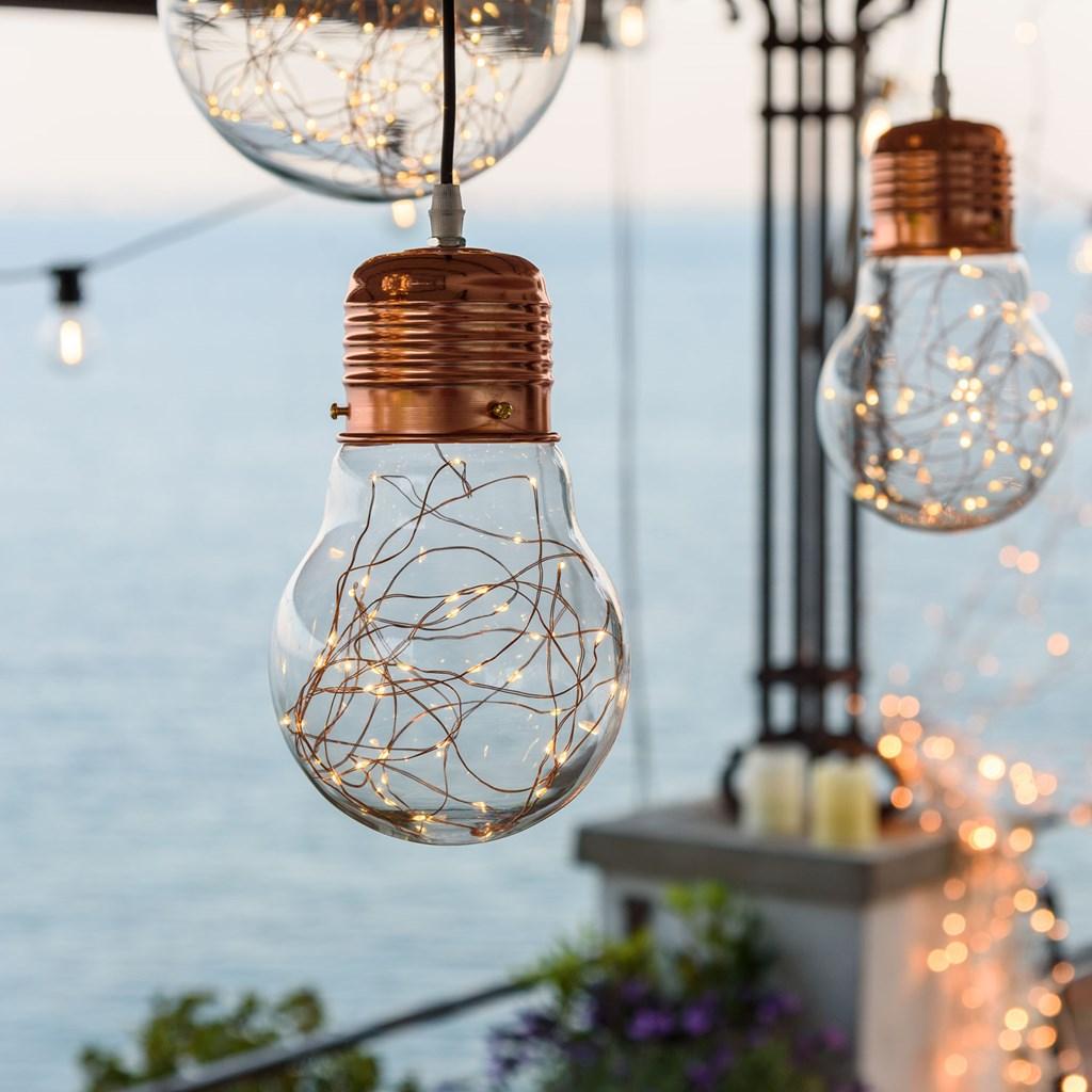 L mpara bombilla gigante 14 cm con luces micro led objetos decorativos para colgar - Lamparas bombilla gigante ...