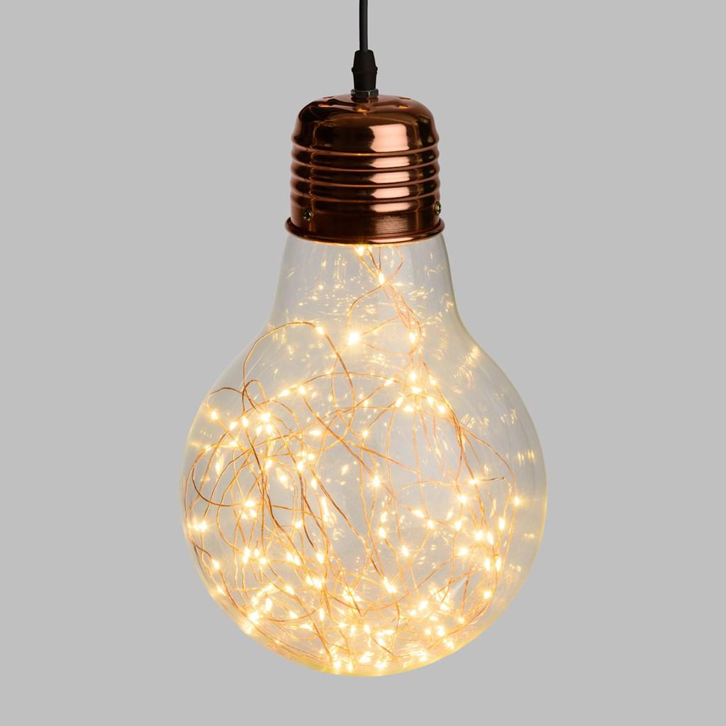 L mpara bombilla gigante 21 5 cm con luces micro led objetos decorativos para colgar - Lamparas bombilla gigante ...