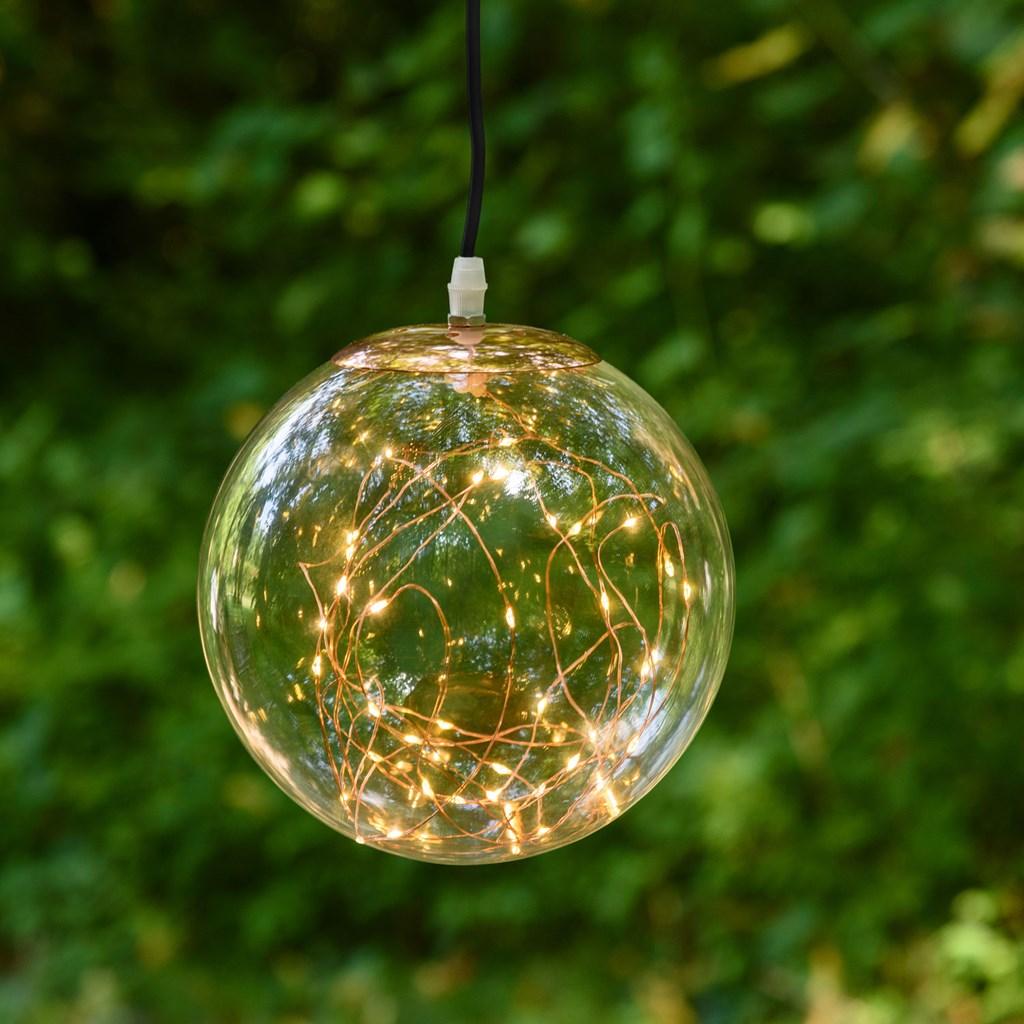 Lampada decorativa vintage a sfera 30 cm 100 microled - Luci decorative ...