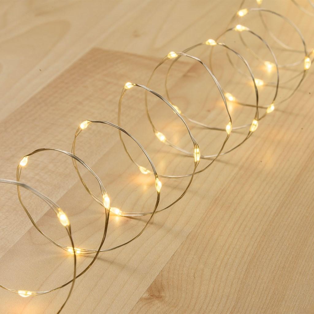 lichterkette 4 m 40 micro leds warmwei silberner metalldraht batteriebetrieben lichterketten. Black Bedroom Furniture Sets. Home Design Ideas