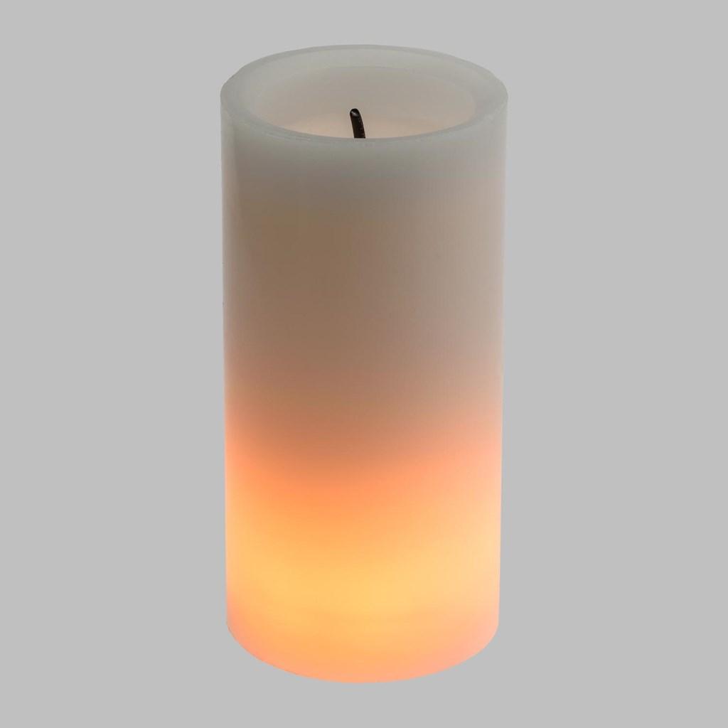Weihnachtsdeko Led Kerzen.Led Kerze Mit Docht H 15 Cm Feuer Effekt