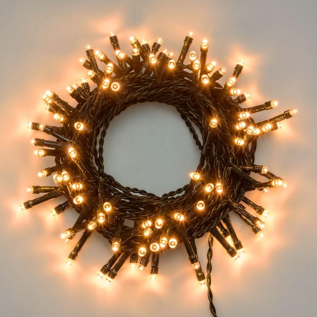 Guirnalda de luces 5 m 100 led blanco extra c lido cable - Luces led calidas ...