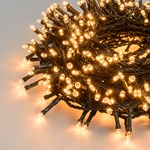 Lichterkette 36,5 m, 900 LEDs warmweiß traditionell, grünes Kabel