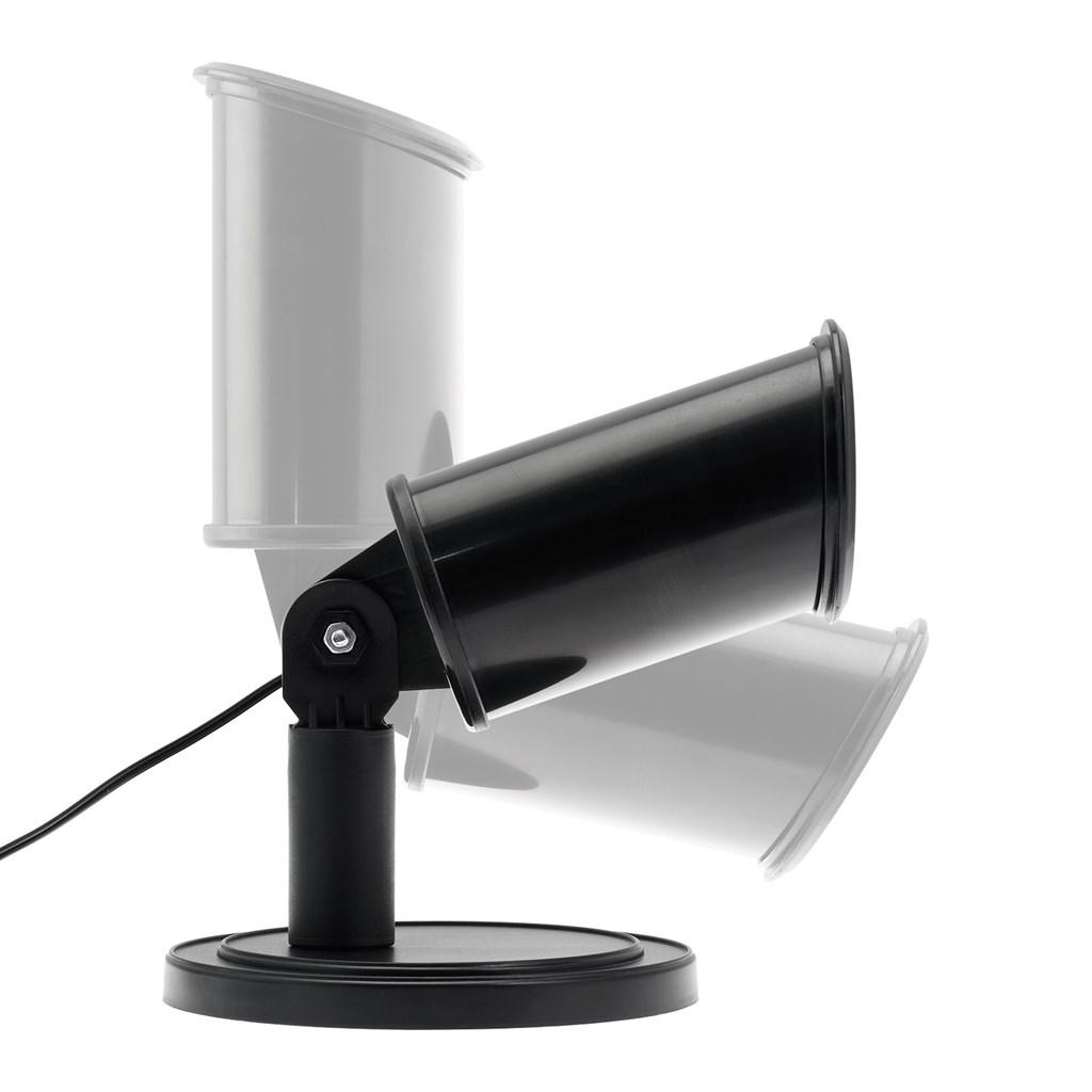 Projecteur boule de no l avec sapin led blanc froid image statique projecteurs led et laser for Projecteur led noel