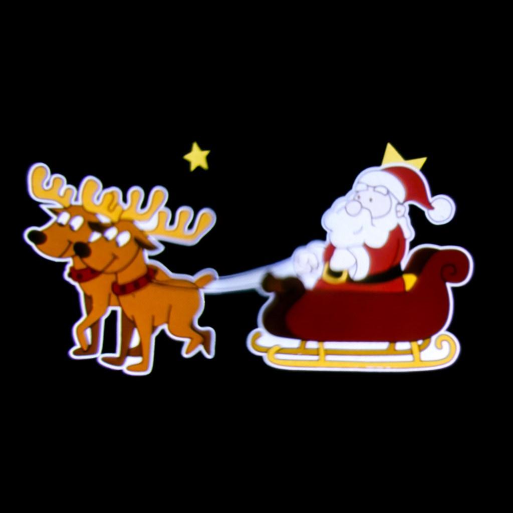 d01e995d0a5 Proyector navideño Led Papá Noel en trineo efecto movimiento ...