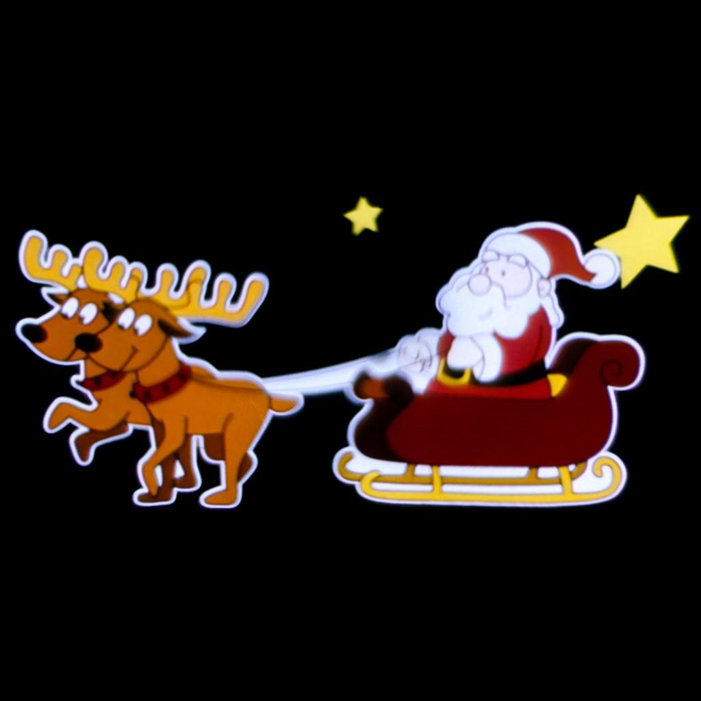 Weihnachtsbeleuchtung Außen Schlitten.Led Projektor Weihnachtsmann Schlitten Full Color