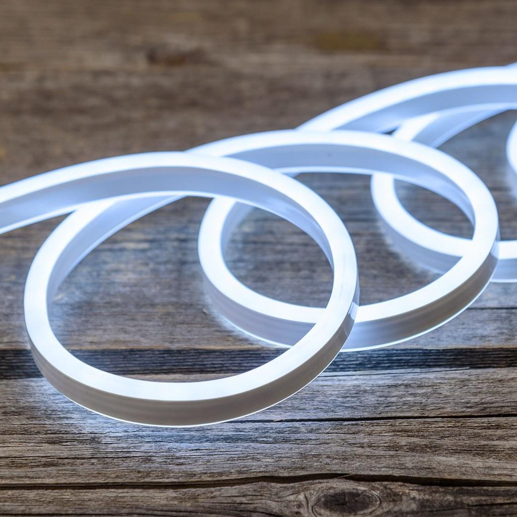 tube lumineux effet néon flex double face, 16 x 8 mm, 230v, 50 m