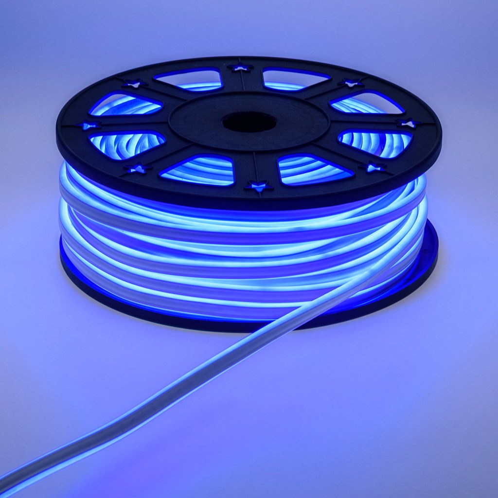 tube lumineux effet n on flex double face 16 x 8 mm 230v 50 m 6000 led bleu tube led d coratif. Black Bedroom Furniture Sets. Home Design Ideas