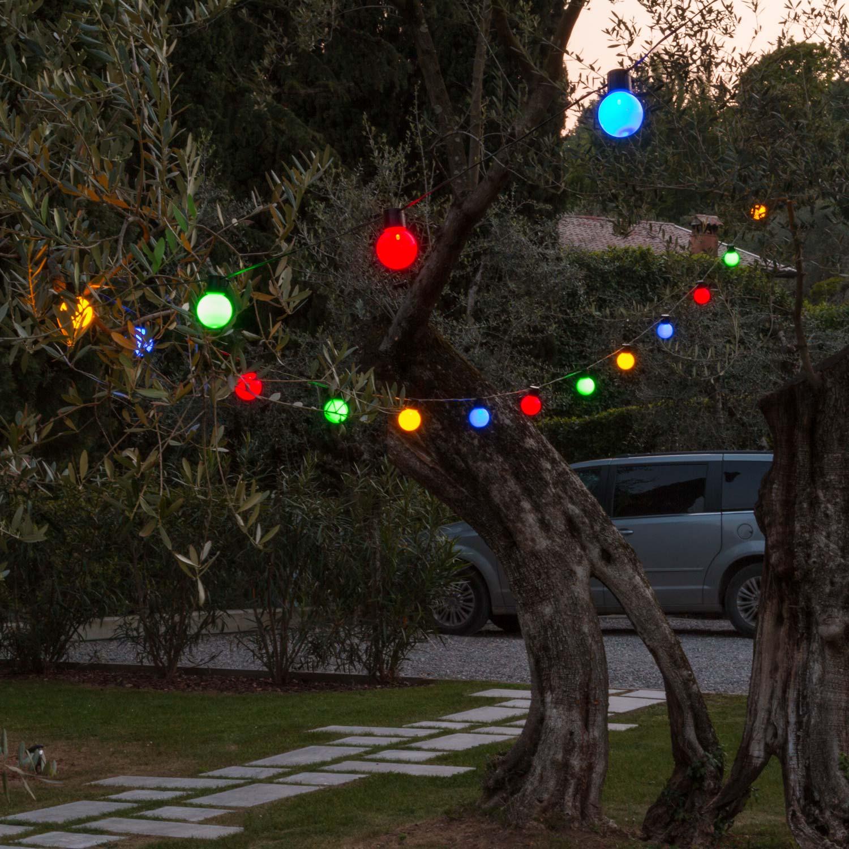 Party Dekolichterkette 10 M, 20 Bunte LED Lampen
